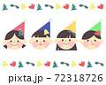 子供たちのクリスマスアイコンセット 72318726