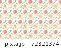 桃の水彩風シームレスパターン素材 72321374