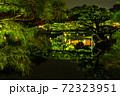 【香川県 高松市】秋の夜間ライトアップの栗林公園 日本庭園 72323951