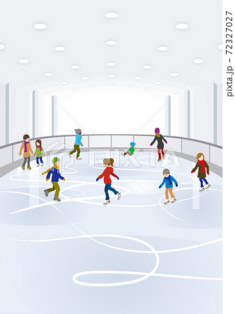 スケートを楽しむ人々 屋内スケートリンク 72327027