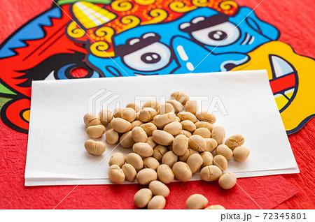 節分 豆まきの豆 72345801