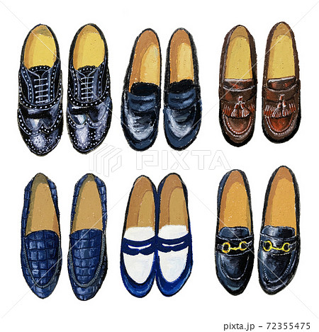おしゃれな革靴 オイルパステル 72355475