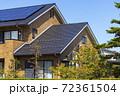 エコ住宅と青空と緑 72361504