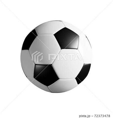 サッカーボールの3Dレンダリング。透過背景 72373478
