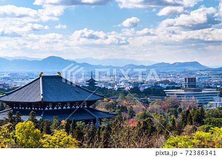 《奈良県》東大寺・奈良の街並み 72386341