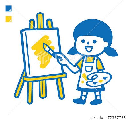 絵を描く女の子 72387723