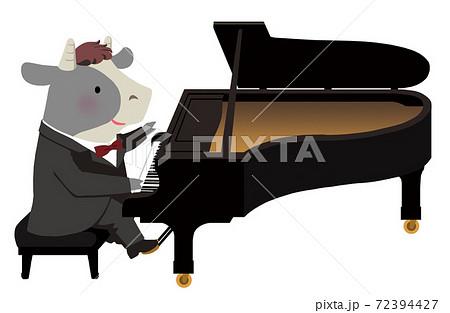 年賀2021_丑演奏家_ピアノ 72394427