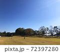 冬の公園を遠くから見た背景イメージ 72397280