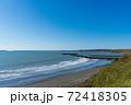 北海道の浜中町の海岸風景 72418305