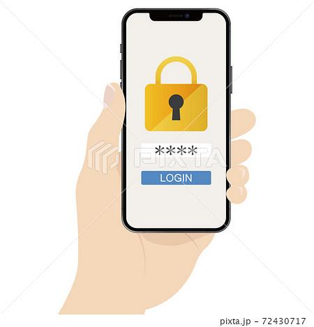 スマートフォン 本人認証 72430717
