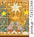 Christmas illustration with decorated store front 72431349
