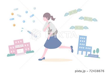 不妊治療と仕事の両立 72438676