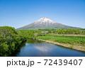 羊蹄山と川 72439407