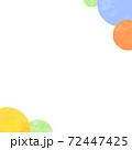 円形の水彩背景(正方形) 72447425