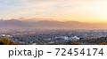富士山と甲府盆地の夕景 72454174