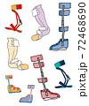 いろいろな下肢装具の素材 72468690
