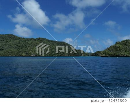 レクリエーション施設のあるパラオの小さい島 72475300