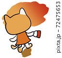 夕日にむかって歩くねこちゃん 72475653