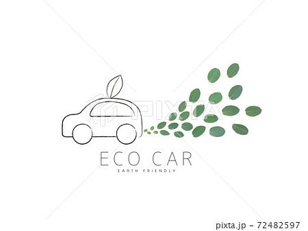 自動車から湧き出る葉っぱ 72482597