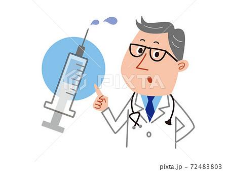 注射器と医者 72483803