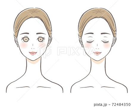 女性の顔 美容イラスト 72484350