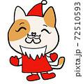 サンタクロースねこちゃん 72510593