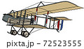 The vintage military biplane 72523555