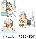 冬に危険なヒートショックに気を付ける入浴法 72524595