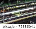 電車・夜・総武線・中野駅手前 72536041
