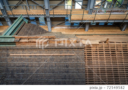 比叡山延暦寺 修復工事中の根本中堂 72549582