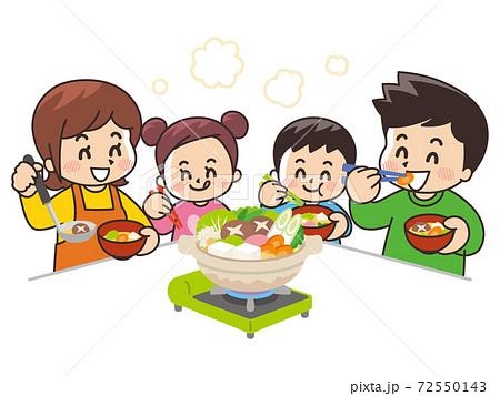 鍋を囲む家族 72550143
