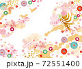 背景素材-和柄桜,鳳凰1テク 72551400