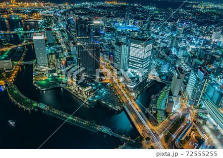 横浜ランドマークタワー展望台からの夜景 72555255