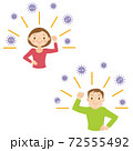 免疫力をアップしてウィルスから体を守るイメージ 72555492