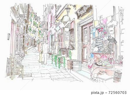 世界遺産の街並み・イタリア・チンケッテレ・リオマジョーレ 72560703