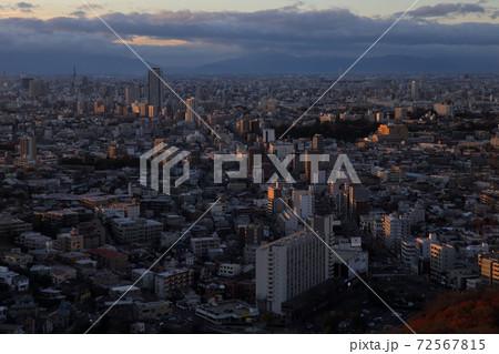 夕日に照らされる街(愛知県名古屋市) 72567815