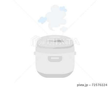 炊飯器で米を炊くイラスト 72570224
