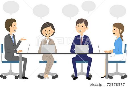 ビジネスシーン 会議 72578577