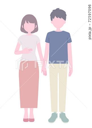 手をつなぐ夫婦 72597096