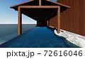 温泉 露天風呂 海 屋根なし 人なしイラスト4 72616046