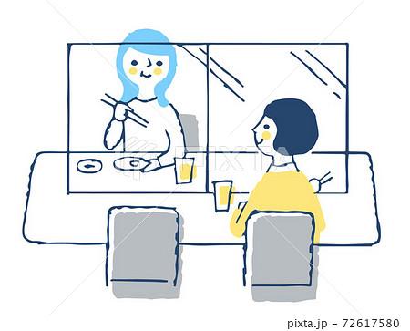 感染症予防対策 アクリル板による飛沫感染防止 飲食店 72617580