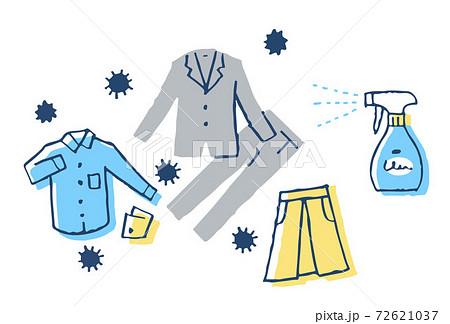 感染症予防対策 衣類の除菌 72621037