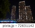 芝浦夜景 芝浦三丁目 夜の運河 72631142