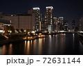 芝浦夜景 芝浦三丁目 夜の運河 72631144