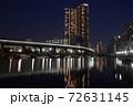 芝浦夜景 芝浦三丁目 夜の運河 72631145