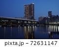 芝浦夜景 芝浦三丁目 夜の運河 72631147