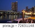 芝浦夜景 芝浦三丁目 夜の運河 72631148