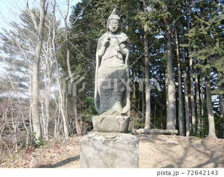 南高尾縦走路の中沢山山頂の聖観世音菩薩像 72642143