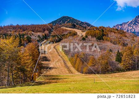 (山梨県)秋のサンメドウズ清里スキー場  72651823