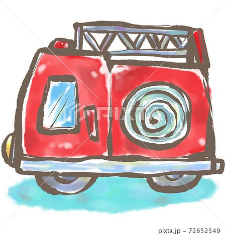 こどもたちの大好きな はたらくくるま【影つき消防車】どんなお仕事してるのかな 72652549